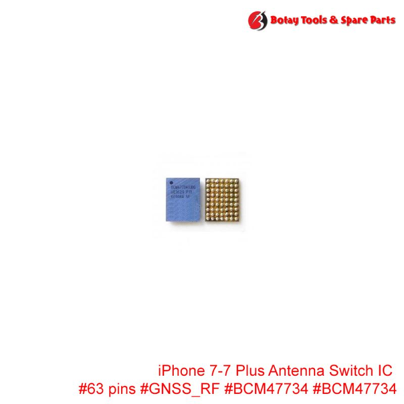 iPhone 7-7 Plus Antenna Switch IC #63 pins #GNSS_RF #BCM47734 #BCM47734