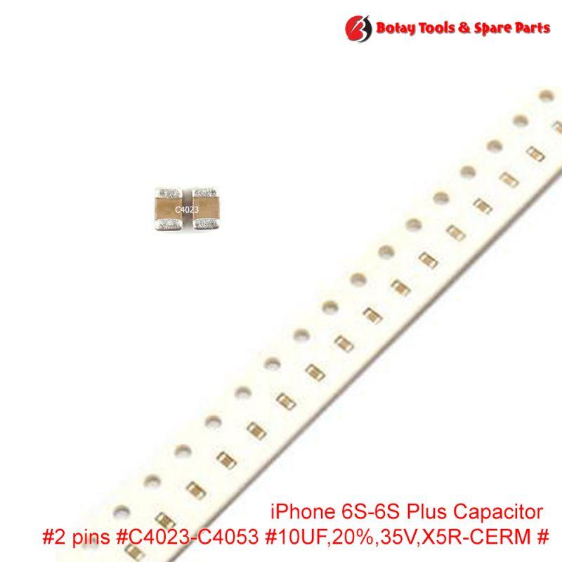 iPhone 6S-6S Plus-SE Capacitor #2 pins #C4023-C4053 #10UF,20%,35V,X5R-CERM #