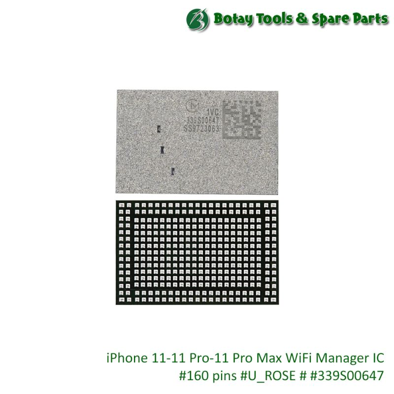 iPhone 11-11 Pro-11 Pro Max WiFi Manager IC #160 pins #U_ROSE # #339S00647