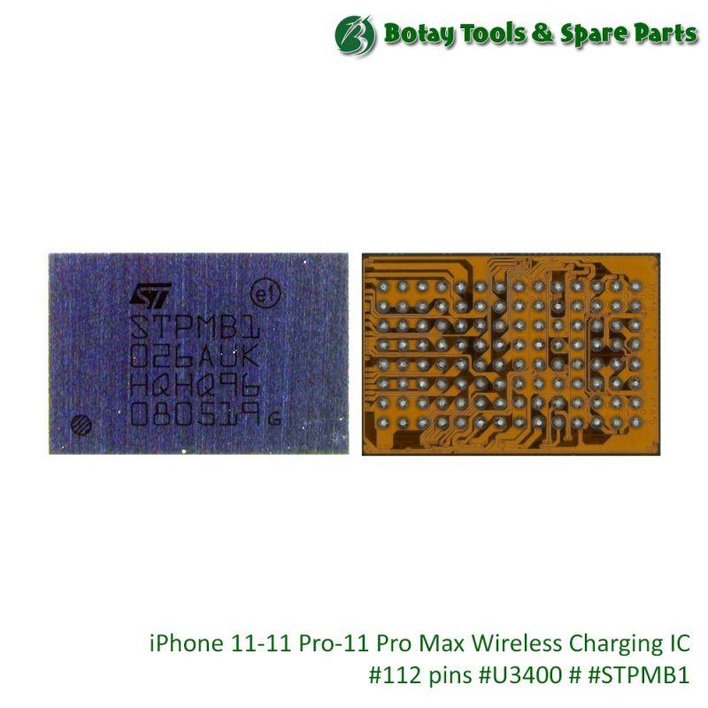 iPhone 11-11 Pro-11 Pro Max Wireless Charging IC #112 pins #U3400 # #STPMB1