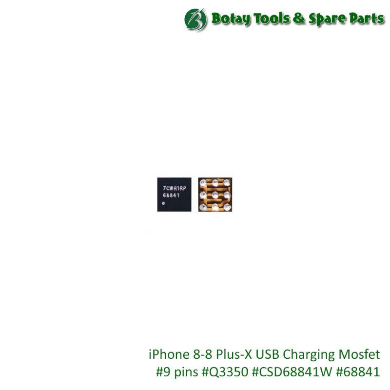 iPhone 8-8 Plus-X USB Charging Mosfet #9 pins #Q3350 #CSD68841W #68841