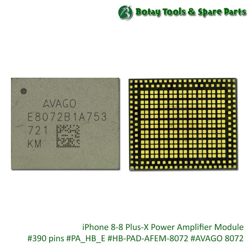 iPhone 8-8 Plus-X Power Amplifier Module #390 pins #PA_HB_E #HB-PAD-AFEM-8072 #AVAGO 8072