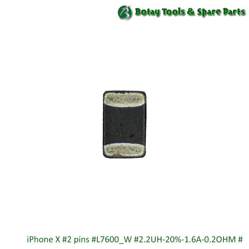 iPhone X #2 pins #L7600_W #2.2UH-20%-1.6A-0.2OHM #