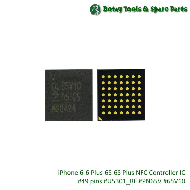 iPhone 6-6 Plus-6S-6S Plus NFC Controller IC #49 pins #U5301_RF #PN65V #65V10