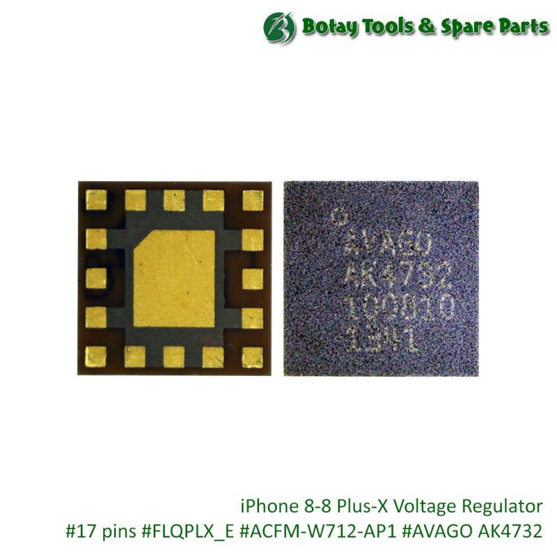 iPhone 8-8 Plus-X Voltage Regulator #17 pins #FLQPLX_E #ACFM-W712-AP1 #AVAGO AK4732