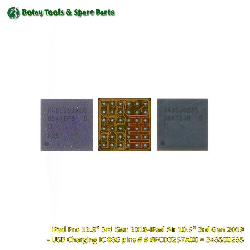 "iPad Pro 12.9"" 3rd Gen 2018-iPad Air 10.5"" 3rd Gen 2019 - USB Charging IC #36 pins # # #PCD3257A00 = 343S00235"