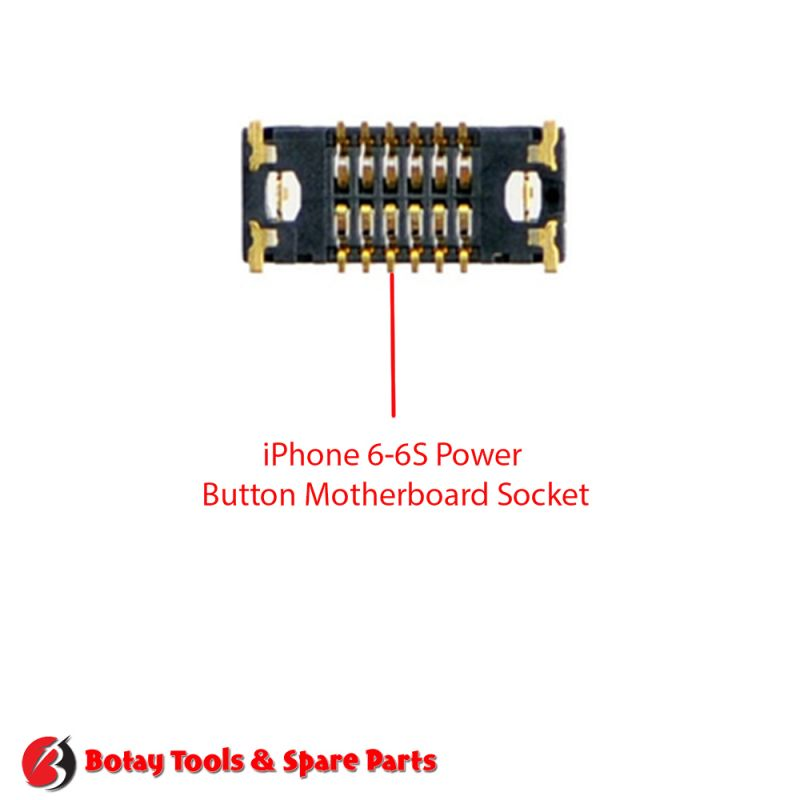 iPhone 6 Power Button FPC Connector Port Onboard #16 pins #J0801