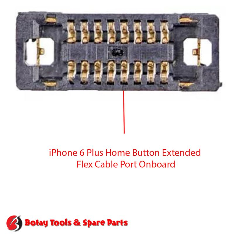 iPhone 6 Plus Home Button Extended Flex Cable FPC Connector Port Onboard #20 pins #J2118