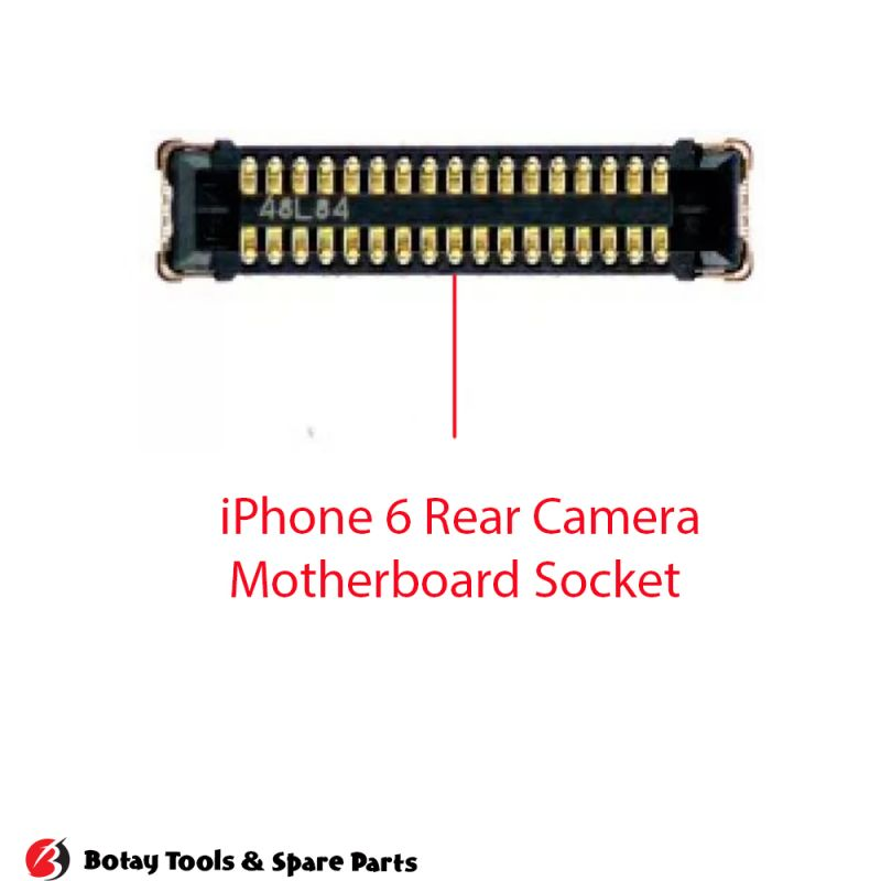 iPhone 6-6 Plus Rear Camera FPC Connector Port Onboard #38 pins #J2321