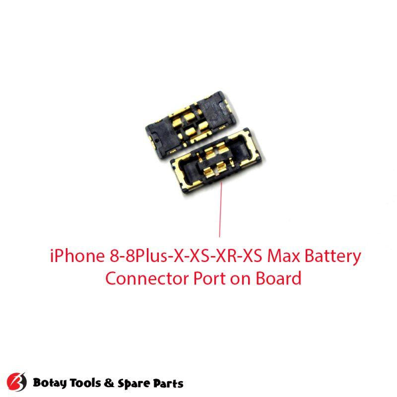 iPhone 8-8 Plus-X-XS-XR-XS Max Battery FPC Connector Port on Board #10 pins #J3200 #B2B-BATT-RCPT