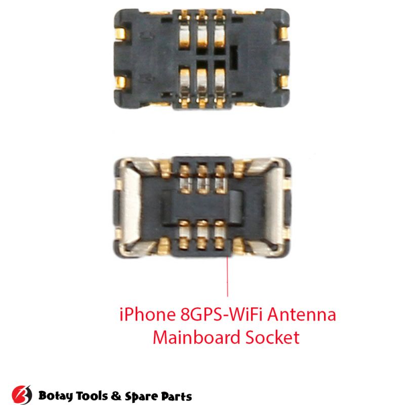 iPhone 8-8 Plus GPS-WiFi Antenna FPC Connector Port Onboard #10 pins #TUNFX_RF #505066-0620