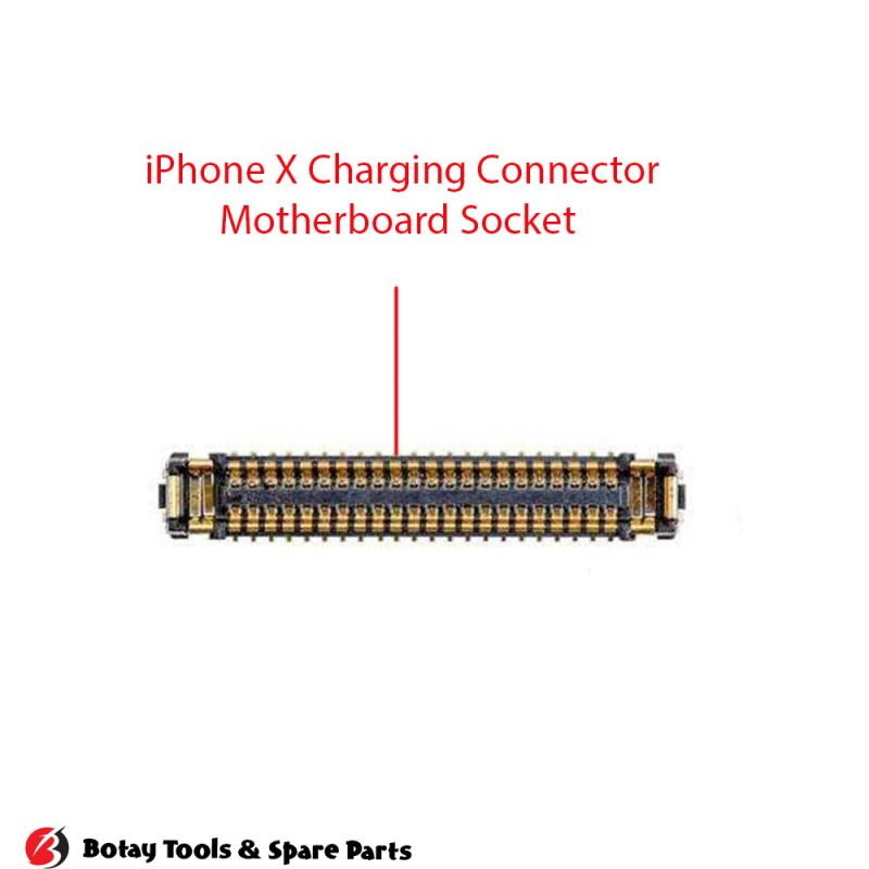 iPhone X Charging FPC Connector Port Onboard #48 pins #J6400 #BM28P0.6-44DS-0.35V
