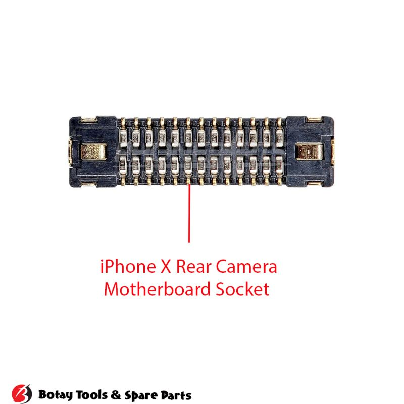 iPhone X-XS-XS Max Rear Wide Angle Camera FPC Connector Port Onboard #32 pins #J3900 #AA26DK-S026VA1