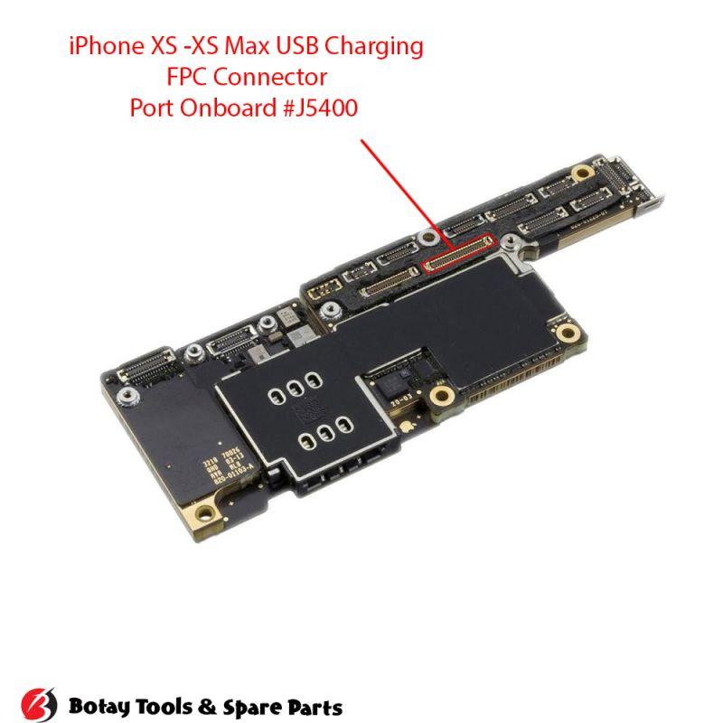 iPhone X-XS-XS Max USB Charging FPC Connector Port Onboard #48 pins #J6400 #BM28PS-44DS-2-0.35V