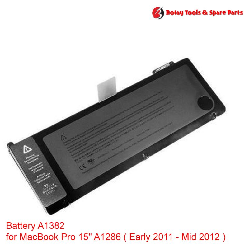 """Battery A1382 for MacBook Pro 15"""" A1286 ( Early 2011 - Mid 2012 )"""