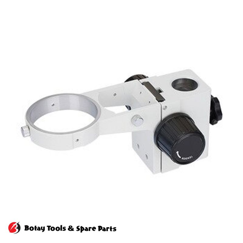 Microscope Middle Frame Microscope Focus Adjustment Arm Microscope Head Holder Ring to Stand Post - White