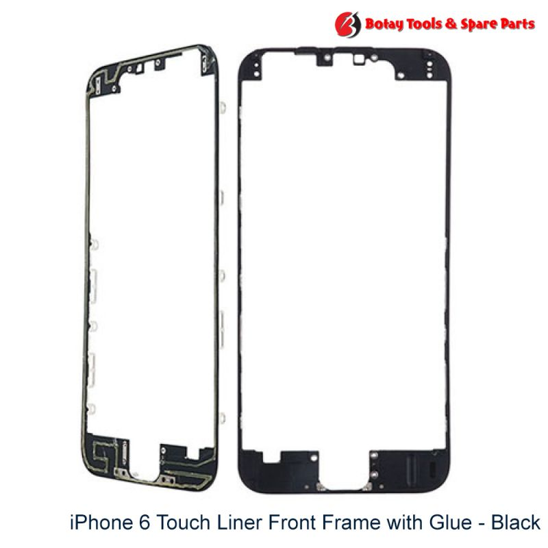 iPhone 6 Touch Liner Front Frame with Glue - Black