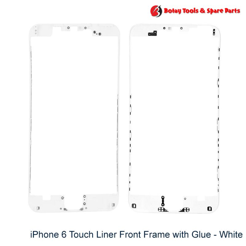iPhone 6 Touch Liner Front Frame with Glue - White