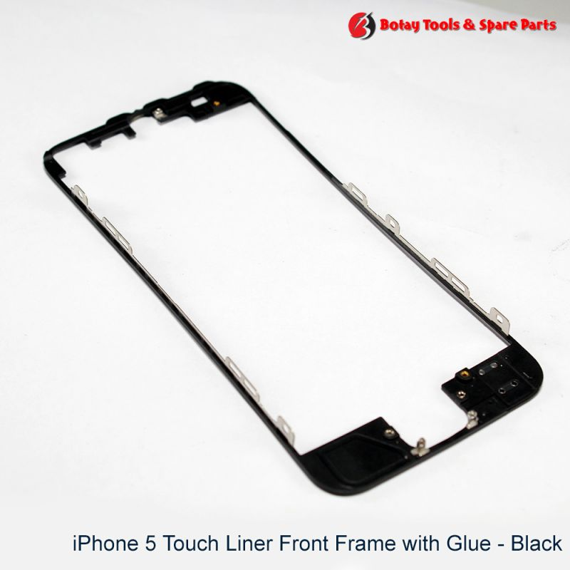 iPhone 5 Touch Liner Front Frame with Glue - Black