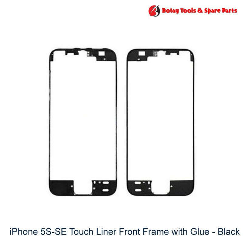 iPhone 5S-SE Touch Liner Front Frame with Glue - Black