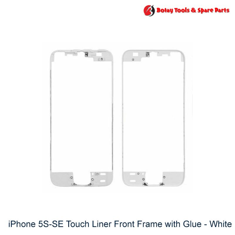 iPhone 5S-SE Touch Liner Front Frame with Glue - White
