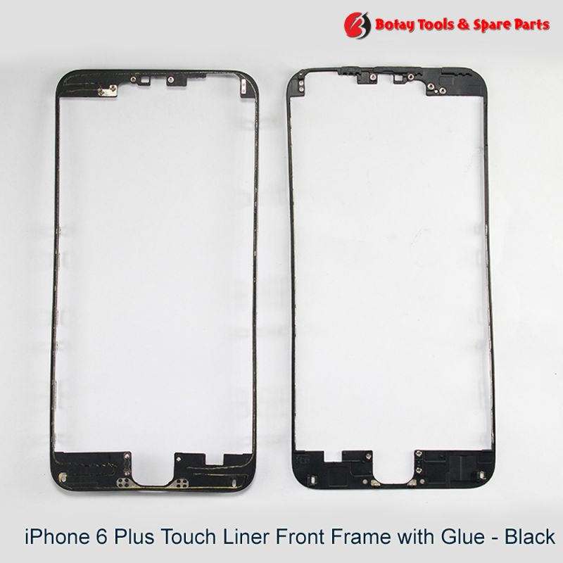 iPhone 6 Plus Touch Liner Front Frame with Glue - Black