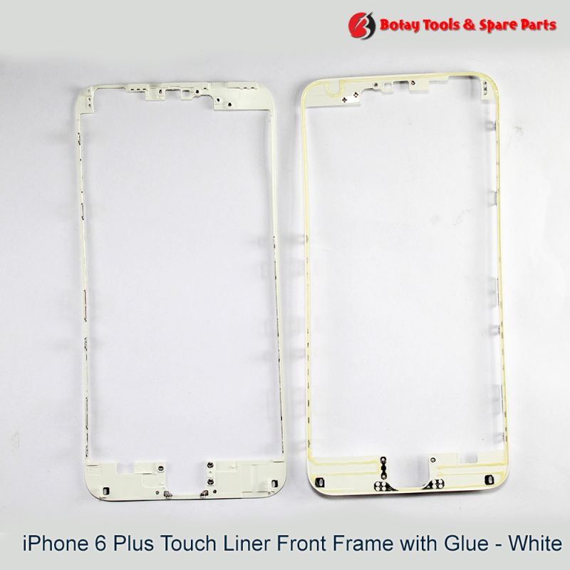 iPhone 6 Plus Touch Liner Front Frame with Glue - White