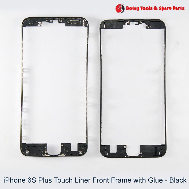 iPhone 6S Plus Touch Liner Front Frame with Glue - Black