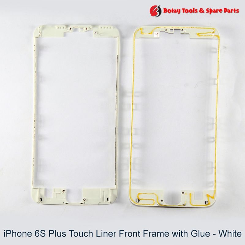 iPhone 6S Plus Touch Liner Front Frame with Glue - White