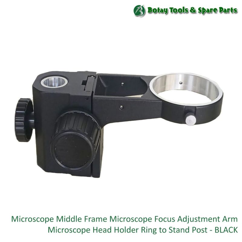 Microscope Middle Frame Microscope Focus Adjustment Arm Microscope Head Holder Ring To Stand Post - Black