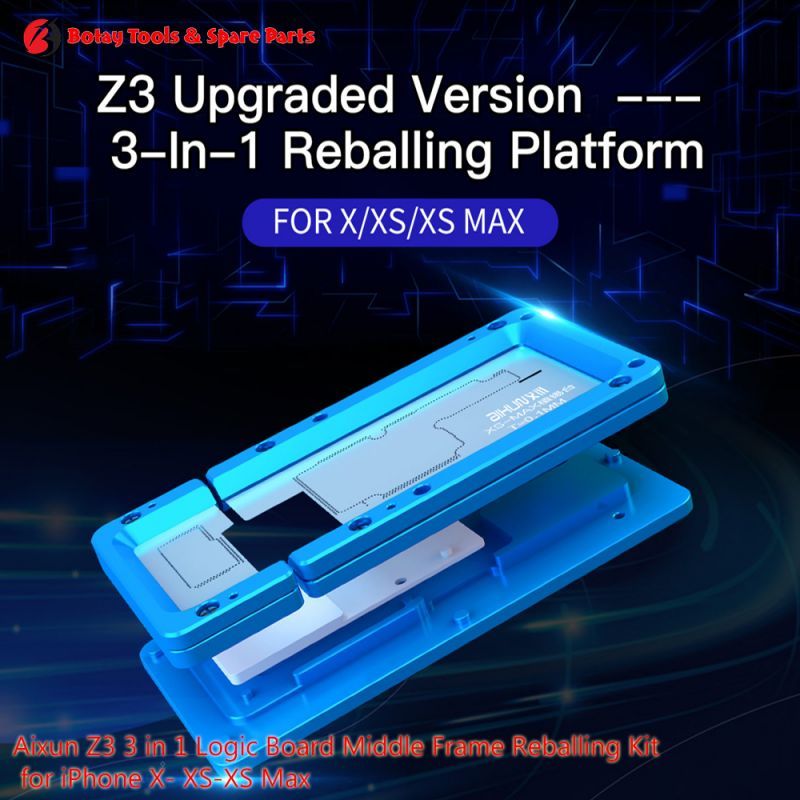 Aixun Z3 ( 3-in-1 )  Logic Board Middle Frame Reballing Kit for iPhone X- XS-XS Max