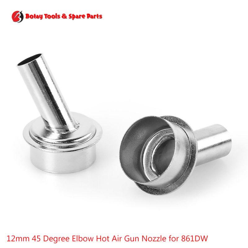 12mm 45 degree Elbow Hot Air Gun Nozzle for 861DW