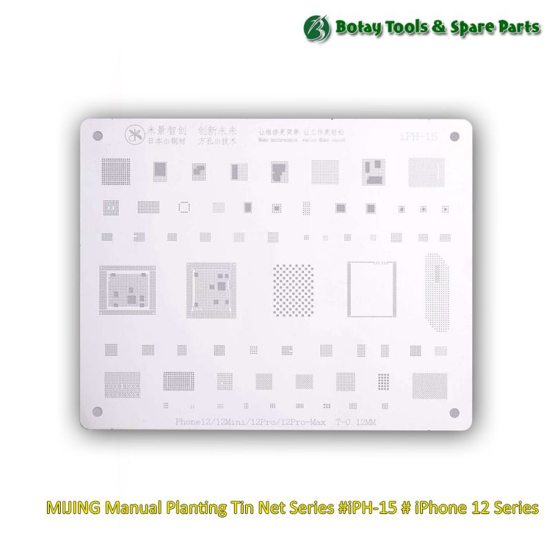 MIJING Manual Planting Tin Net Series #iPH-15 # iPhone 12 Series